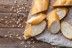 Loaf on table with seeds Royalty Free Stock Photo