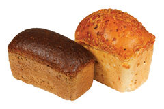 Loaf of wheat and rye bread Royalty Free Stock Photo