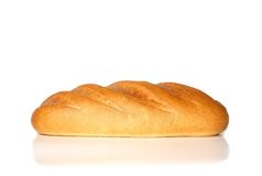 Loaf of white bread. Shot in studio Royalty Free Stock Photography