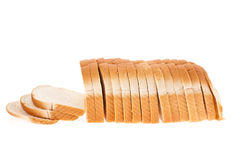Loaf of white bread. A whole loaf of white bread isolated on white Royalty Free Stock Photography