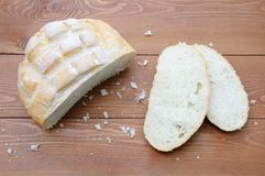 A loaf of white bread royalty free stock photography