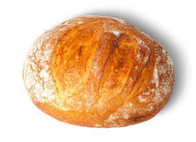Loaf of white round bread Royalty Free Stock Photography