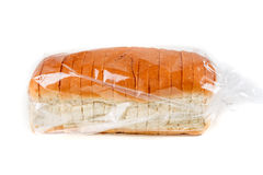 Loaf of whole grain bread in a bag Stock Photo