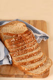 Loaf of whole wheat bread Stock Image
