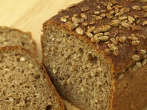 Loaf of wholemeal bread, closeup Stock Image