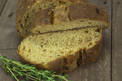 Loaf of wholemeal brown bread Royalty Free Stock Photos