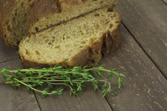 Loaf of wholemeal brown bread Royalty Free Stock Photo