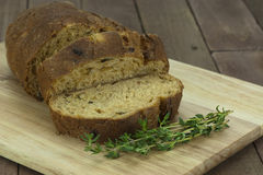 Loaf of wholemeal brown bread Royalty Free Stock Images