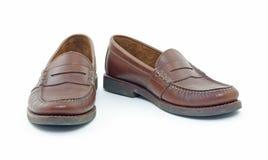 Loafers de couro da moeda de um centavo Imagens de Stock