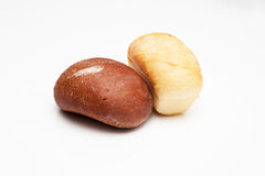 Loafs of bread – brown and white Royalty Free Stock Image