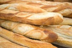 Loafs de pão frescos Fotos de Stock Royalty Free