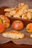 Loafs e fruta do pão Imagens de Stock