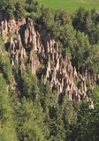 Loam Pyramids,Ritten,South Tyrol,Italy Royalty Free Stock Photos