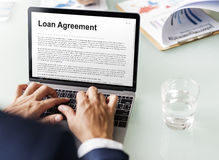 Loan Agreement Budget Capital Credit Borrow Concept Royalty Free Stock Images