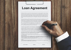 Loan Agreement Budget Capital Credit Borrow Concept. Loan Agreement Budget Capital Concept stock images