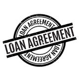 Loan Agreement rubber stamp Royalty Free Stock Photo