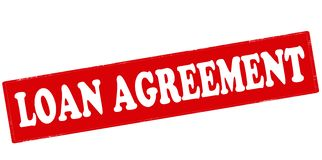 Loan agreement. Rubber stamp with text loan agreement inside,  illustration Royalty Free Stock Photography
