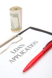 Loan application Stock Images