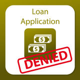 Loan application denied. The illustration in EPS format can be scaled to any size without loss of quality. Easy to edit vector illustration