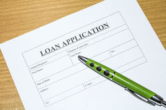 Loan application. Royalty Free Stock Photography