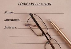 Loan Application. Royalty Free Stock Photos