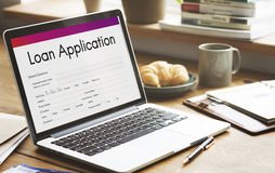 Loan Application Financial Help Form Concept. Loan Application Financial Form Concept royalty free stock photography