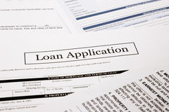 Loan application. Form, business and finance concepts royalty free stock photo
