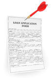 Loan Application Form with Darts Arrow Royalty Free Stock Images