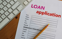 Loan application form royalty free stock photography