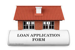 Loan Application Form with House Royalty Free Stock Photos