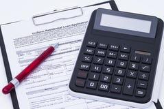Loan application form Stock Photos