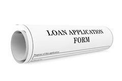 Loan Application Form Royalty Free Stock Image