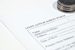 Loan application Royalty Free Stock Photo