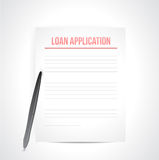 Loan application paperwork illustration Royalty Free Stock Photos
