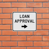 Loan Approval This Way. A sign indicating Loan Approval Stock Photography