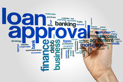 Loan approval word cloud. Concept royalty free stock photo