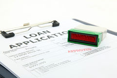 Loan approved. Business concept the process of loan application contract approved stock photos