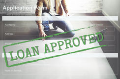 Loan Approved Accepted Application Form Concept Royalty Free Stock Photos