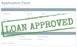 Loan Approved Accepted Bank Borrowing Concept stock photos