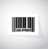 Loan approved barcode sign concept Stock Image