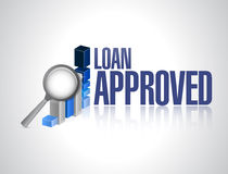 Loan approved business graph sign concept Stock Photography