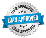 Loan approved 3d silver badge Royalty Free Stock Photography