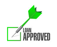 Loan approved dart check mark illustration design Royalty Free Stock Image