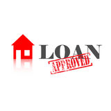 Loan Approved House Royalty Free Stock Photos
