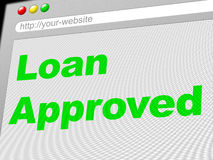 Loan Approved Indicates Advance Assurance And Passed Stock Photography