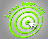 Loan Approved Indicates Assurance Funding And Passed Stock Image