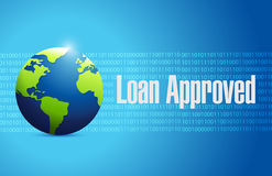 Loan approved internet sign concept Royalty Free Stock Image