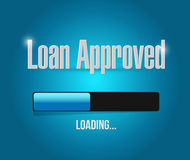 Loan approved loading bar sign concept Royalty Free Stock Photos