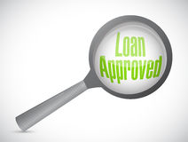 Loan approved review concept illustration Royalty Free Stock Photos
