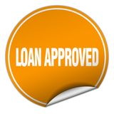 Loan approved sticker. Loan approved round sticker isolated on wite background. loan approved Royalty Free Stock Images